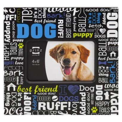 prinz dog frame best friend black 4x6