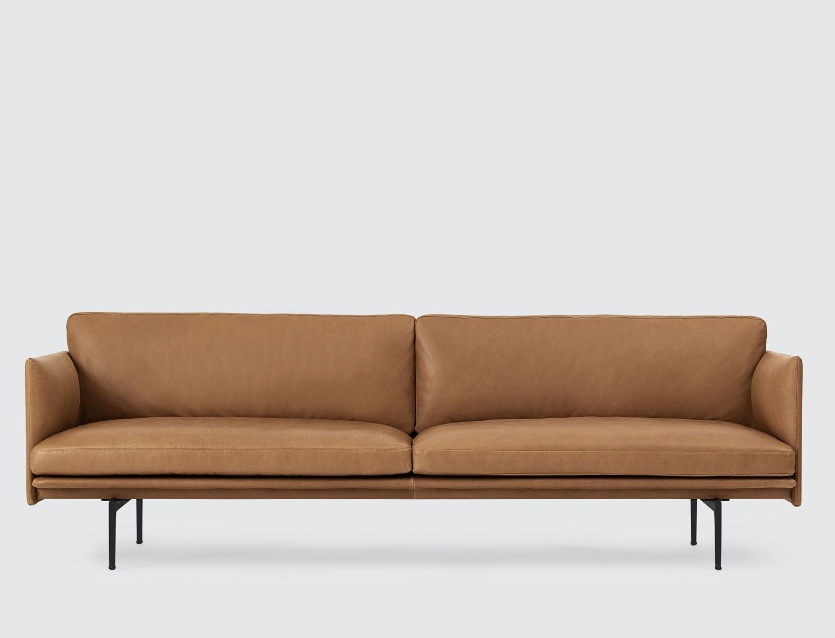 Jules 3 Seater Sofa Charm Cigar Premium Leather from Made