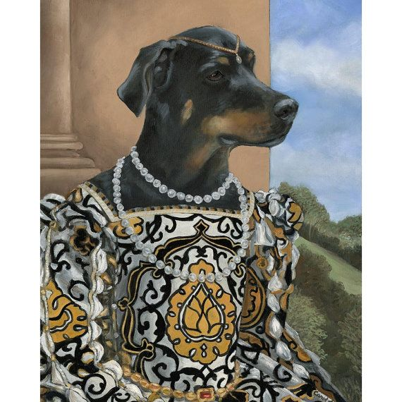 Rotweiller Canvas Prints Lady Sheena by OldWorldPetPortraits