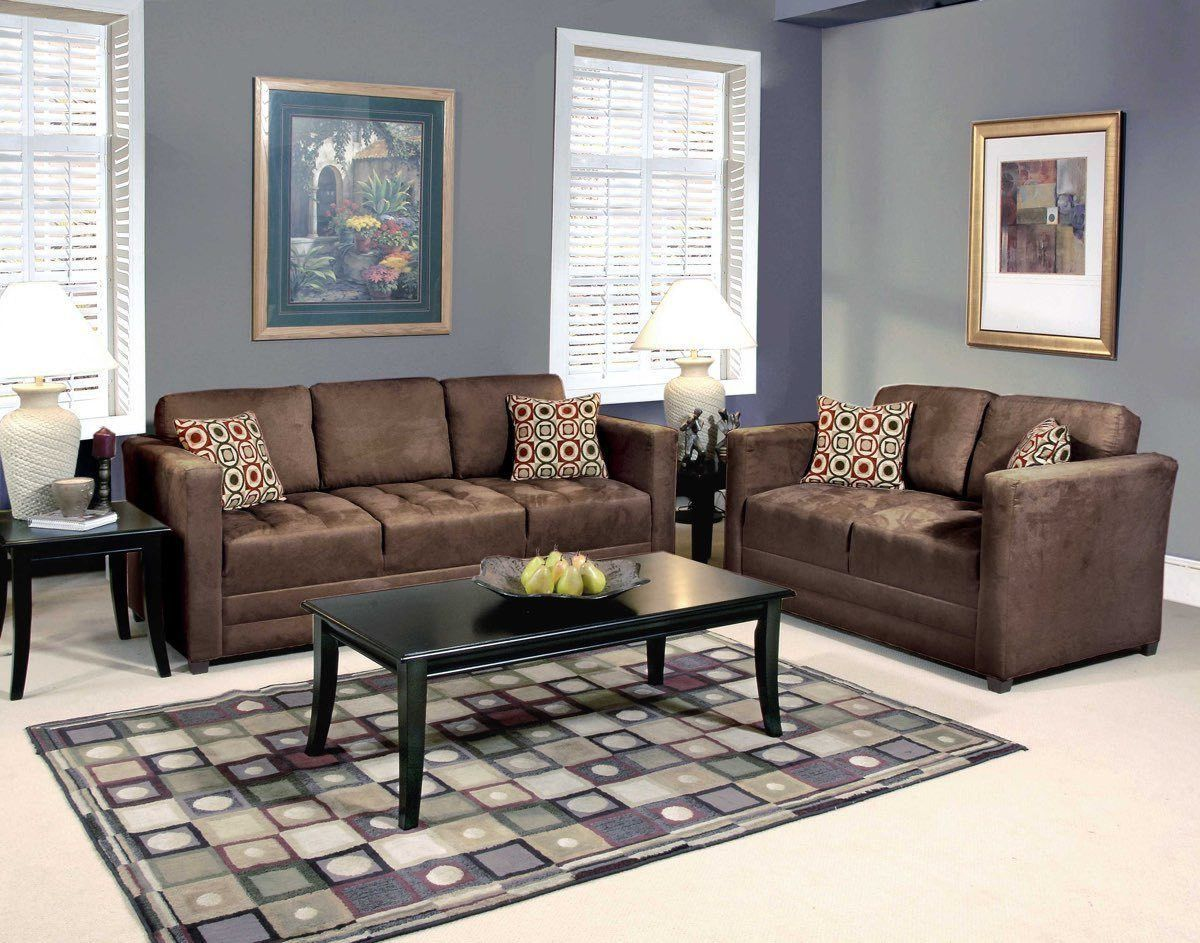 Serta upholstery sienna chocolate sofa loveseat living room