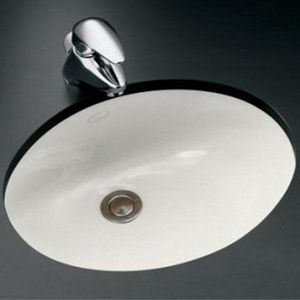 Kohler Caxton White Undermount Oval Bathroom Sink With Overflow At Lowe S Has A Simple Streamlined Design That As Versatile It Is Attractive