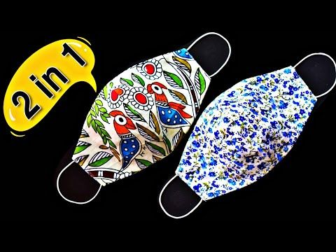 Face Mask Sewing Tutorial - Make Fabric Face Mask At Home - Easy 2-in-1 Face Mask