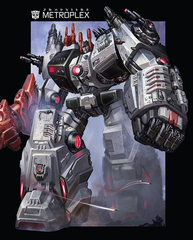 metroplex art from transformers the fall of cybertron robots