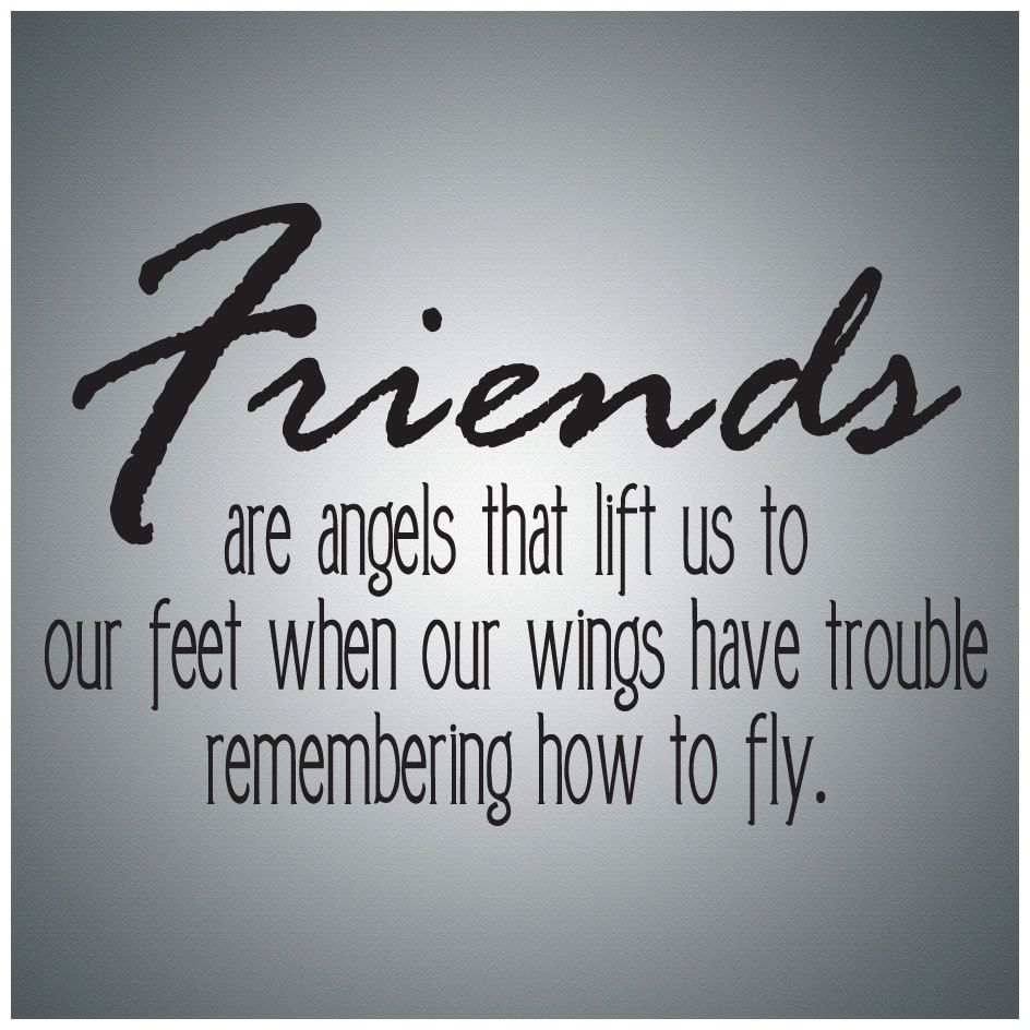 friends are angelswall quote decal vinyl by atomicimprints