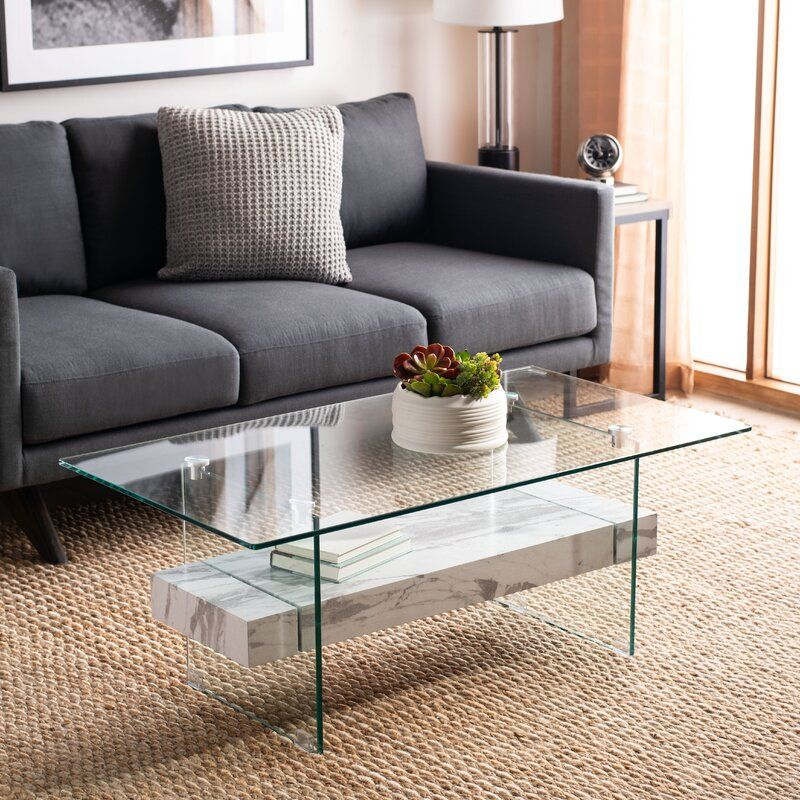 Kayley Sled Coffee Table in 2020 | Modern glass coffee table, Coffee table, Coffee table with ...