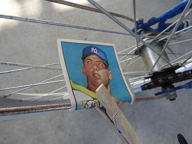 Baseball Card In Bicycle Spokes Do You Remember