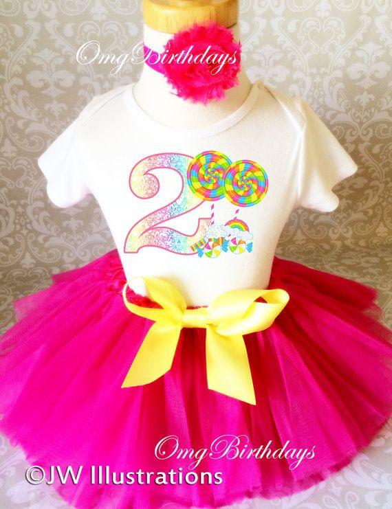 Boys Personalized 2nd Rainbow Birthday Party T SHIRT Second 2 Cute Tutu Girls