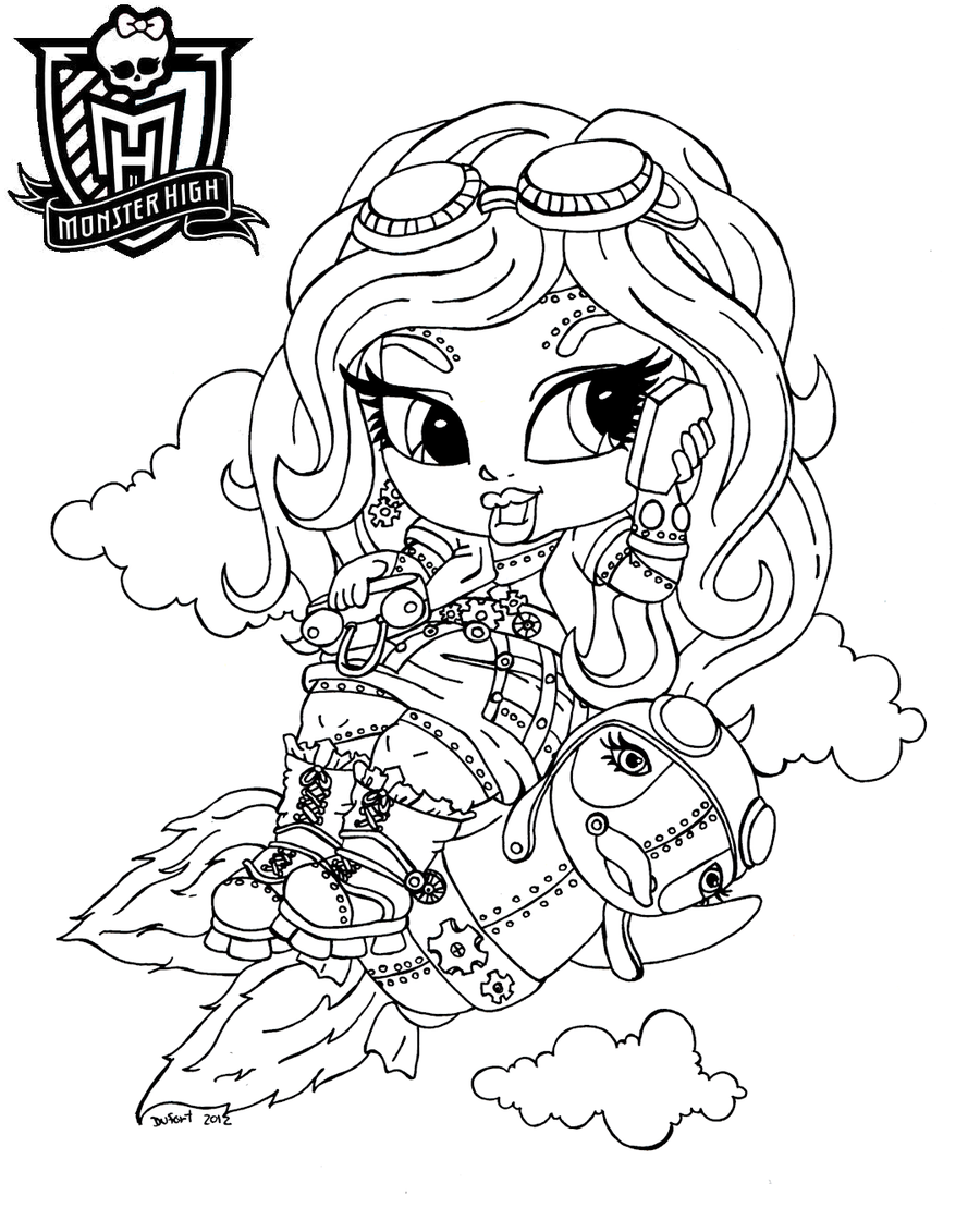 Baby Monster High Coloring Pages | Baby Robecca Steam by ...