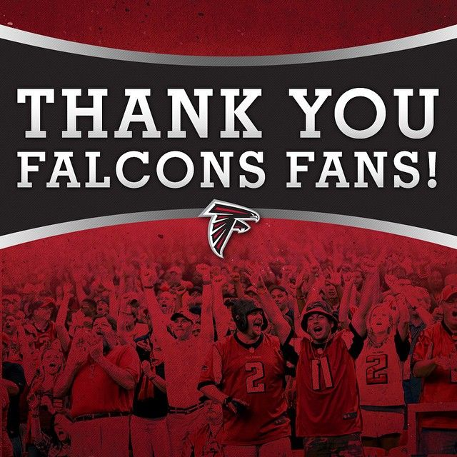 You Guys Are The Best Thank You For Your Support Falcons Riseup Thankyou Falcons Atlanta Falcons Falcons Fan
