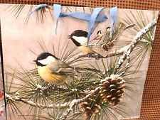 Voila Paper GIFT BAG YELLOW CHICKADEES Birdwatching 3 Medium BAGS All Occasion