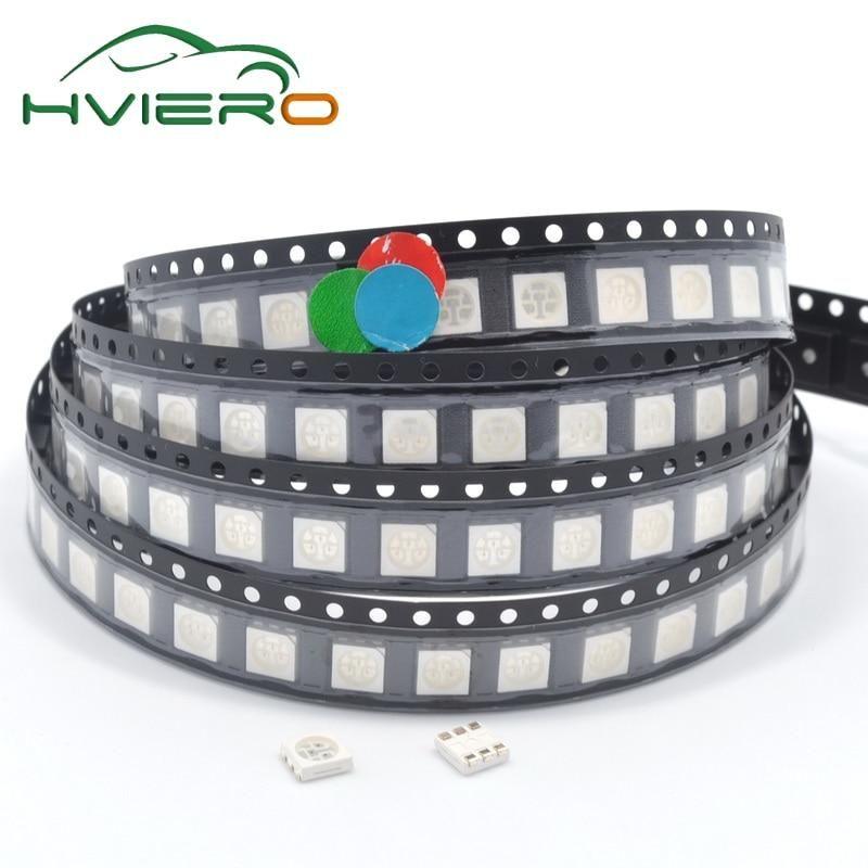 100pcs RGB SMD SMT RED GREEN BLUE 5050 Super bright LED lamp Bulb