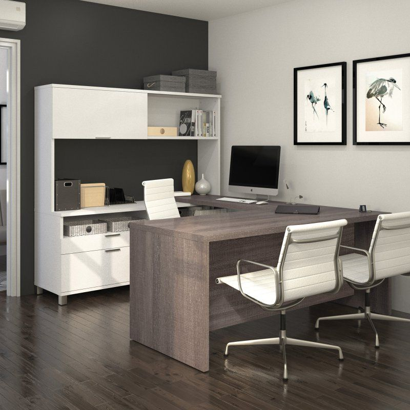 Bestar Pro-Linea U-Shaped Desk With Hutch - 120880- | Products ...