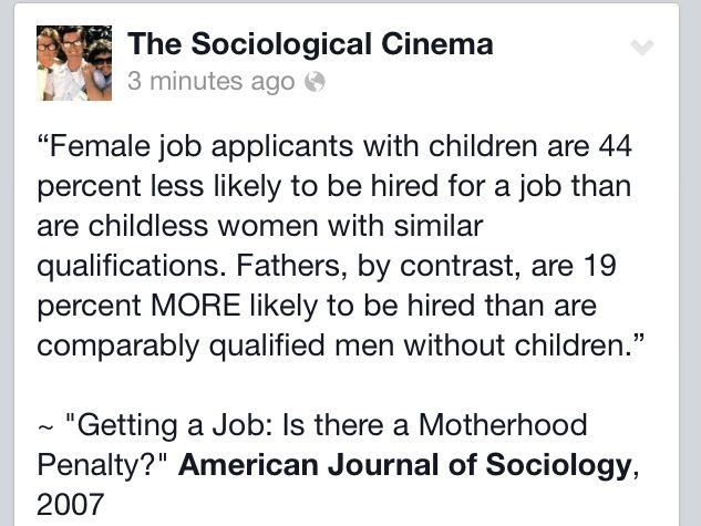 Employers are more likely to hire fathers and childless