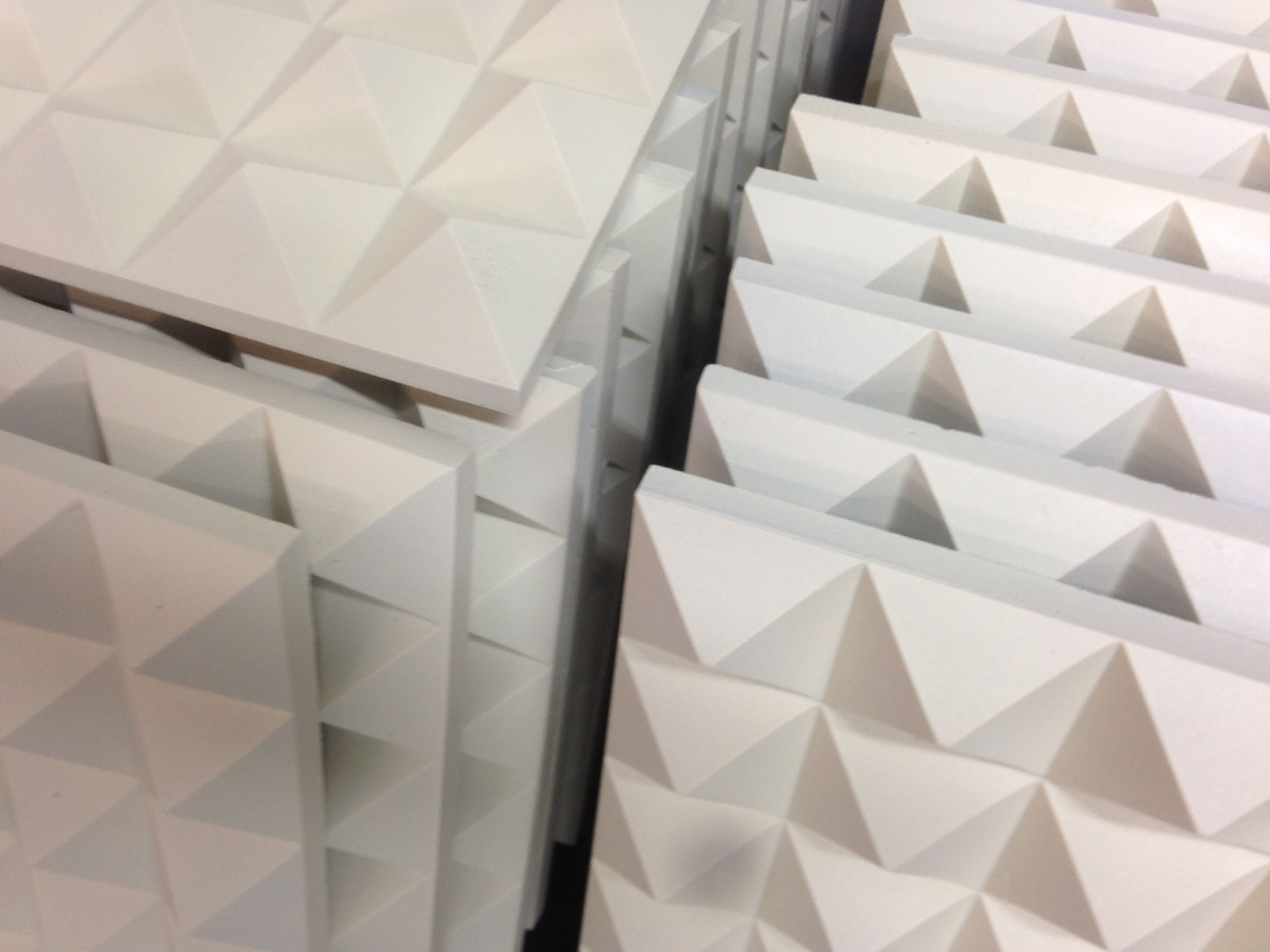 Ambient Pyramidal Panels In Lovely Foam