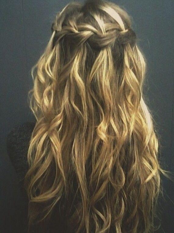 Beach Waves And Waterfall Braids Hair Styles Hair Beauty Hair Secrets