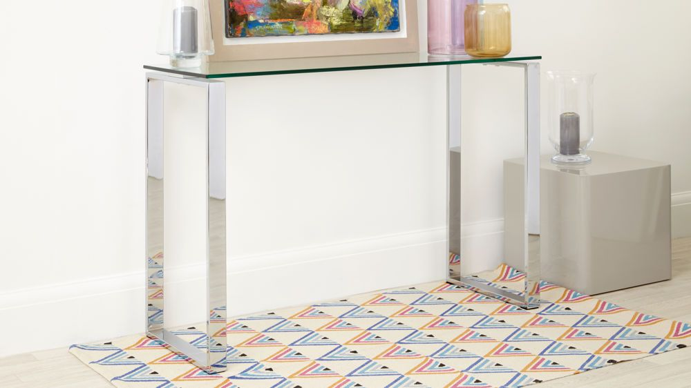 Modern Glass Hallway Table UK Delivery