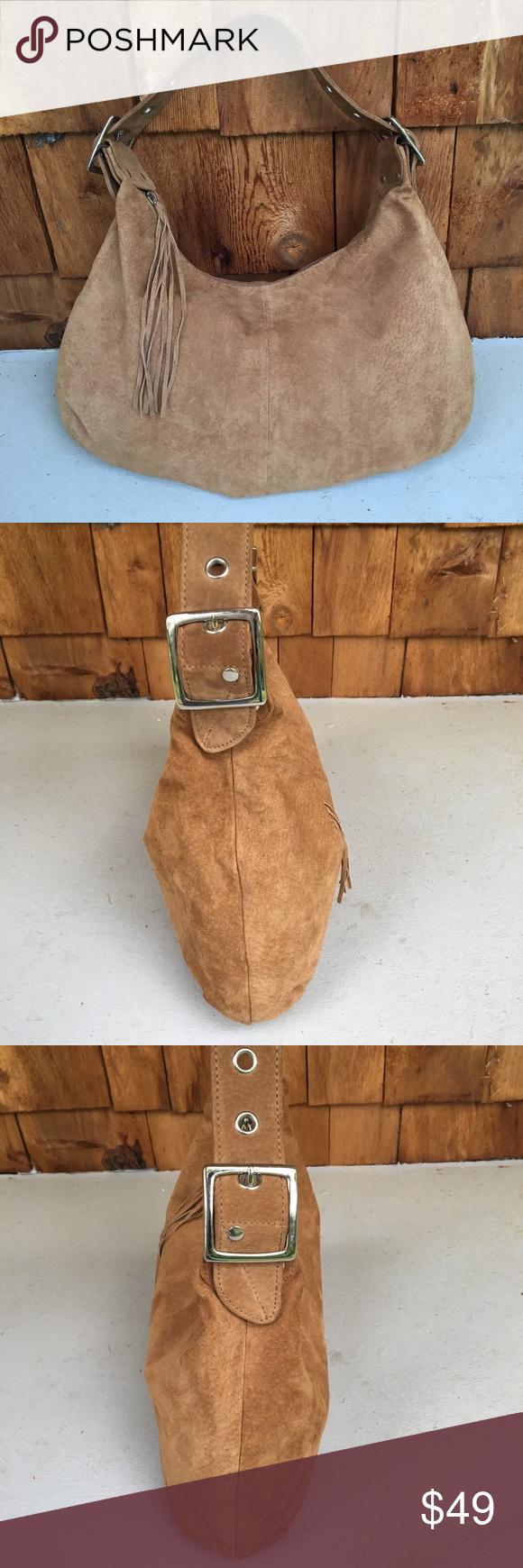 Wilson's Leather Suede Hobo Bag Hobo bag, Wilsons