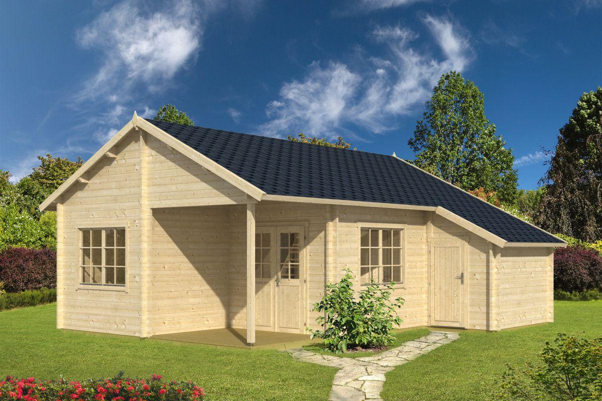 großes gartenhaus mit geräteraum helsinki 35,4m² / 58mm / 7x8