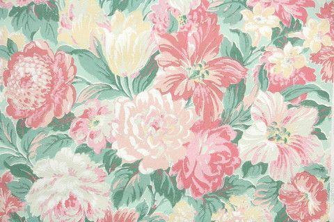 1950s Floral Vintage Wallpaper Vintage Wallpaper Vintage Desktop Wallpapers Wallpapers Vintage