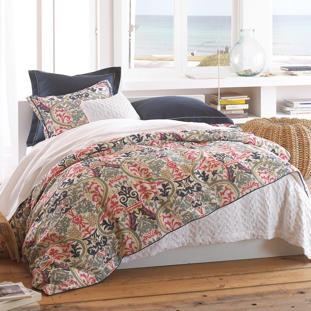 Attractive Navy And Coral Bedding Part - 8: Peacock Alley Bedding | Peacock Alley Catalina Coral Duvet Covers, Shams  And Pillows