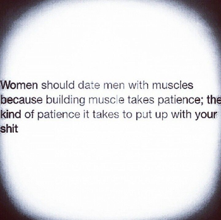 Hahaha I can say the same for Men dating girls with muscles. #ad