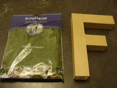 Moss Covered Letters How To Make Moss Covered Letters  Fabtwigs Fabtwigs  Things For