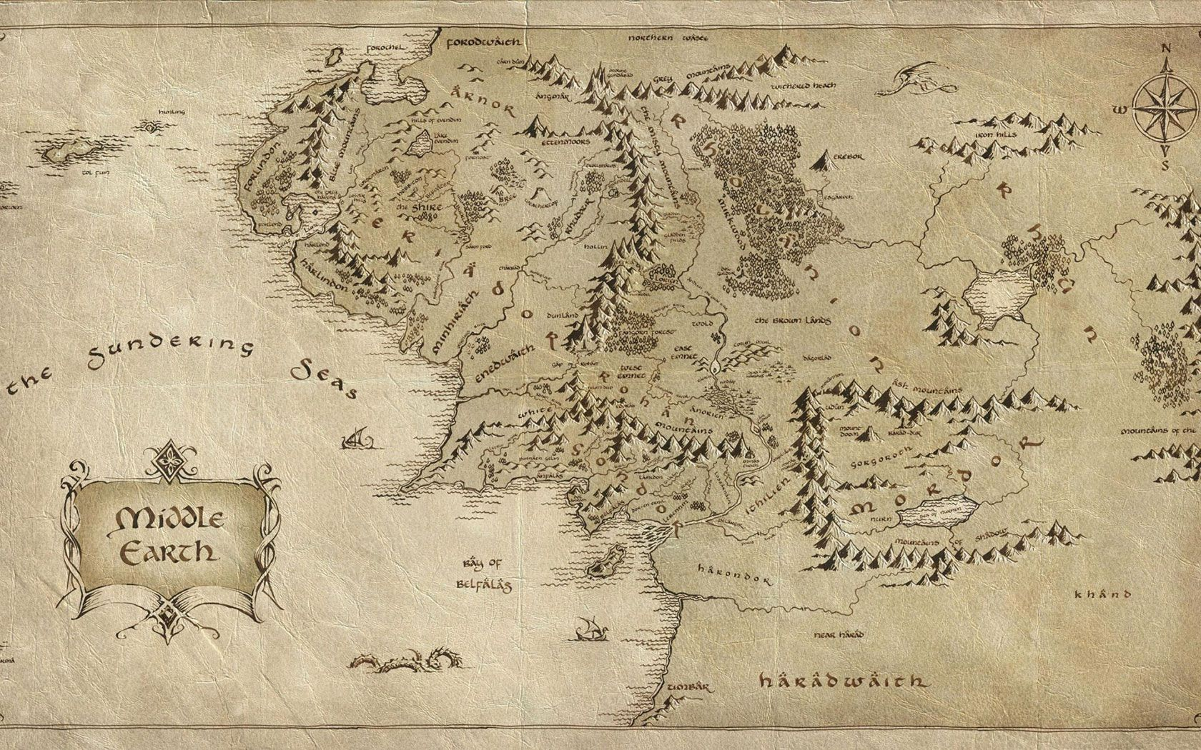 Lord Of The Rings Mapa Hd Desktop Wallpaper Hd Wallpapers