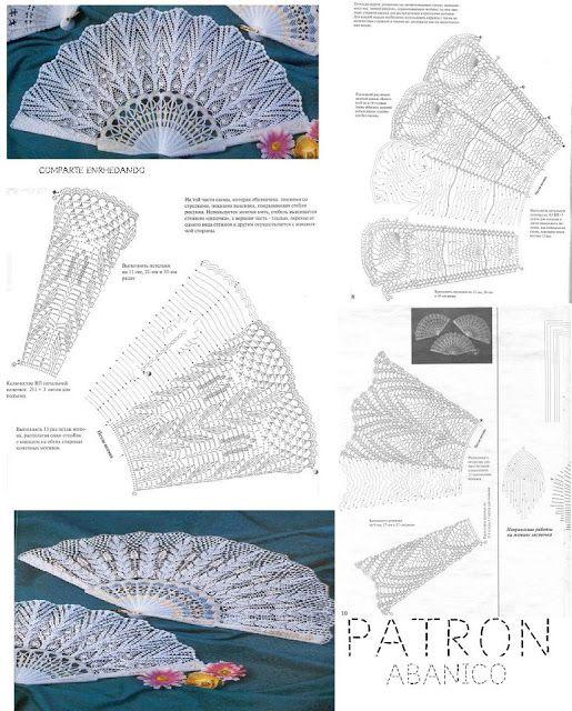 Patron Crochet Abanico de Lujo - Patrones Crochet | manualidades ...