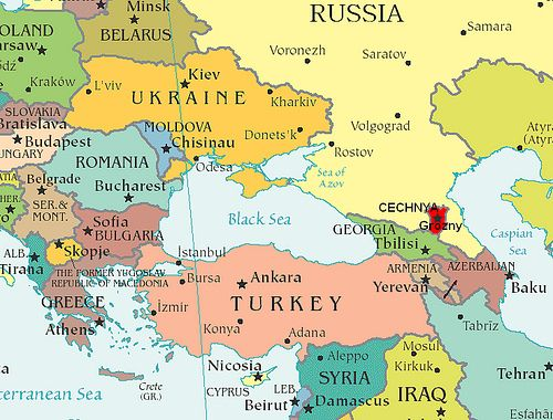eastern europe and central asia map Map of Eastern Europe and Central Asia providing context to