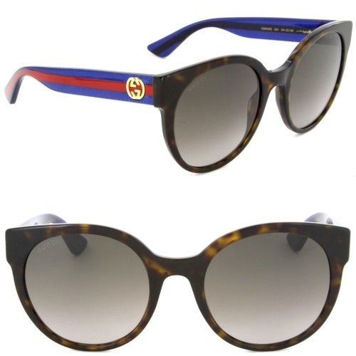 9986550d29 Gucci GG0035S-004 Round   Oval Sunglasses Havana Brown Lens