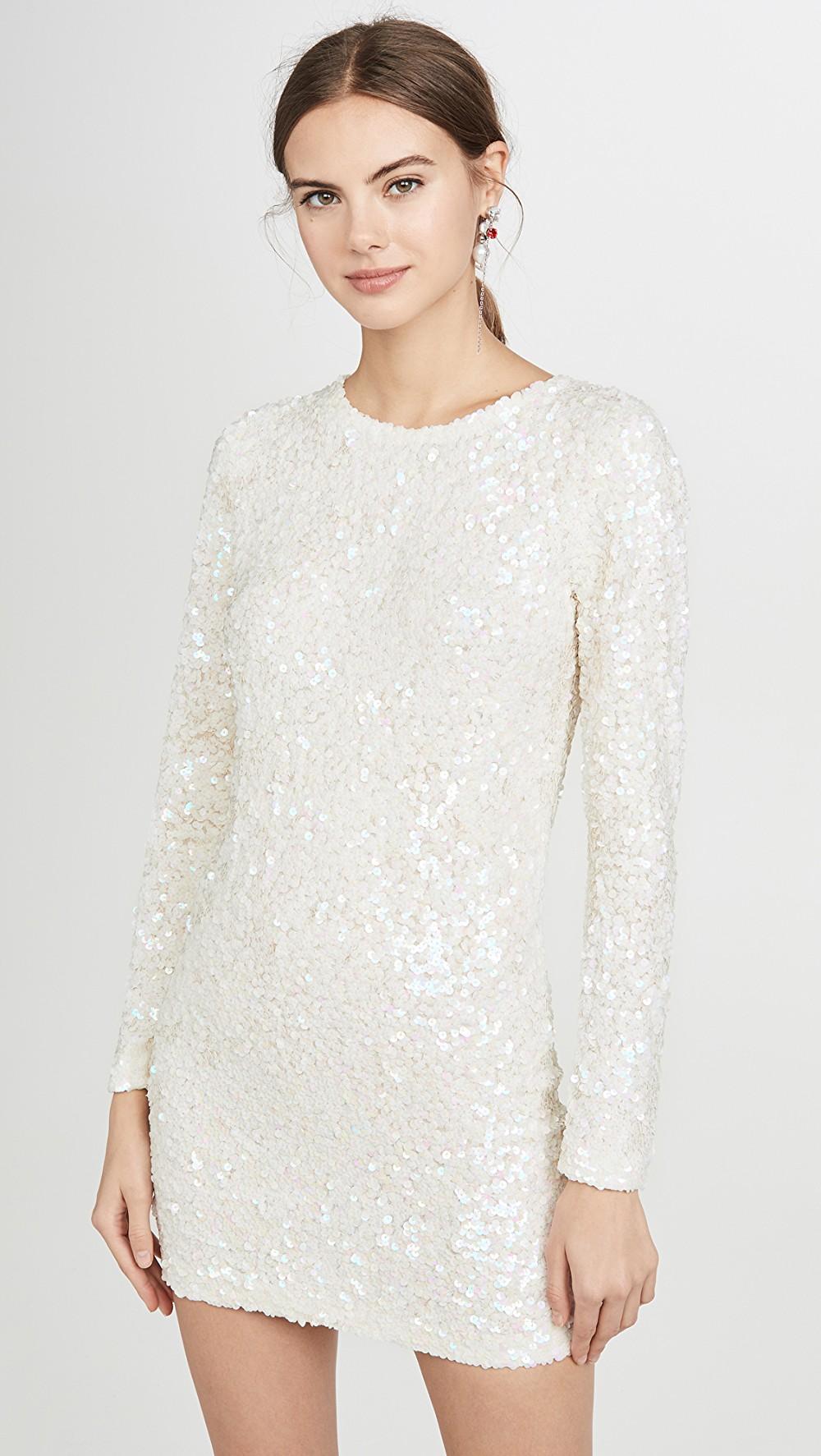 Ashish Sequin Long Sleeve Dress Long Sleeve Sequin Dress Long Sleeve Dress Sequin Mini Dress [ 1773 x 1000 Pixel ]
