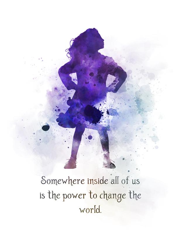 Matilda Quote ART PRINT Roald Dahl, Nursery, Inspirational, Gift, Wall Art, Home Decor