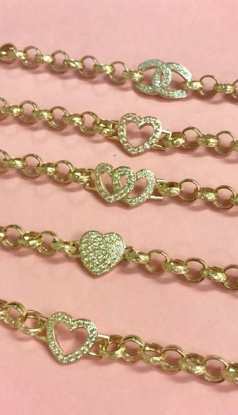 1e611152fece0 Solid 9ct Gold Baby Bracelets #heart #cc #love #family #baby ...