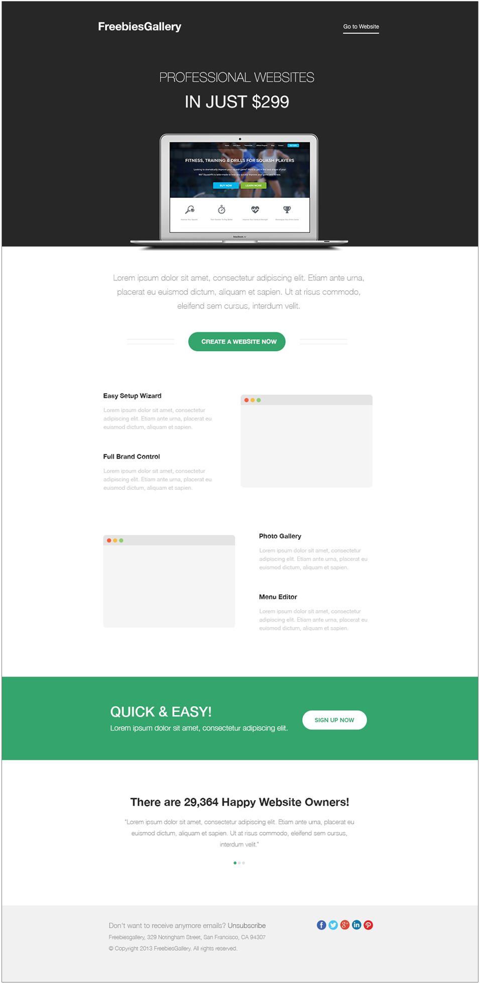 Free Email Newsletter Templates PSD | Free email newsletter ...