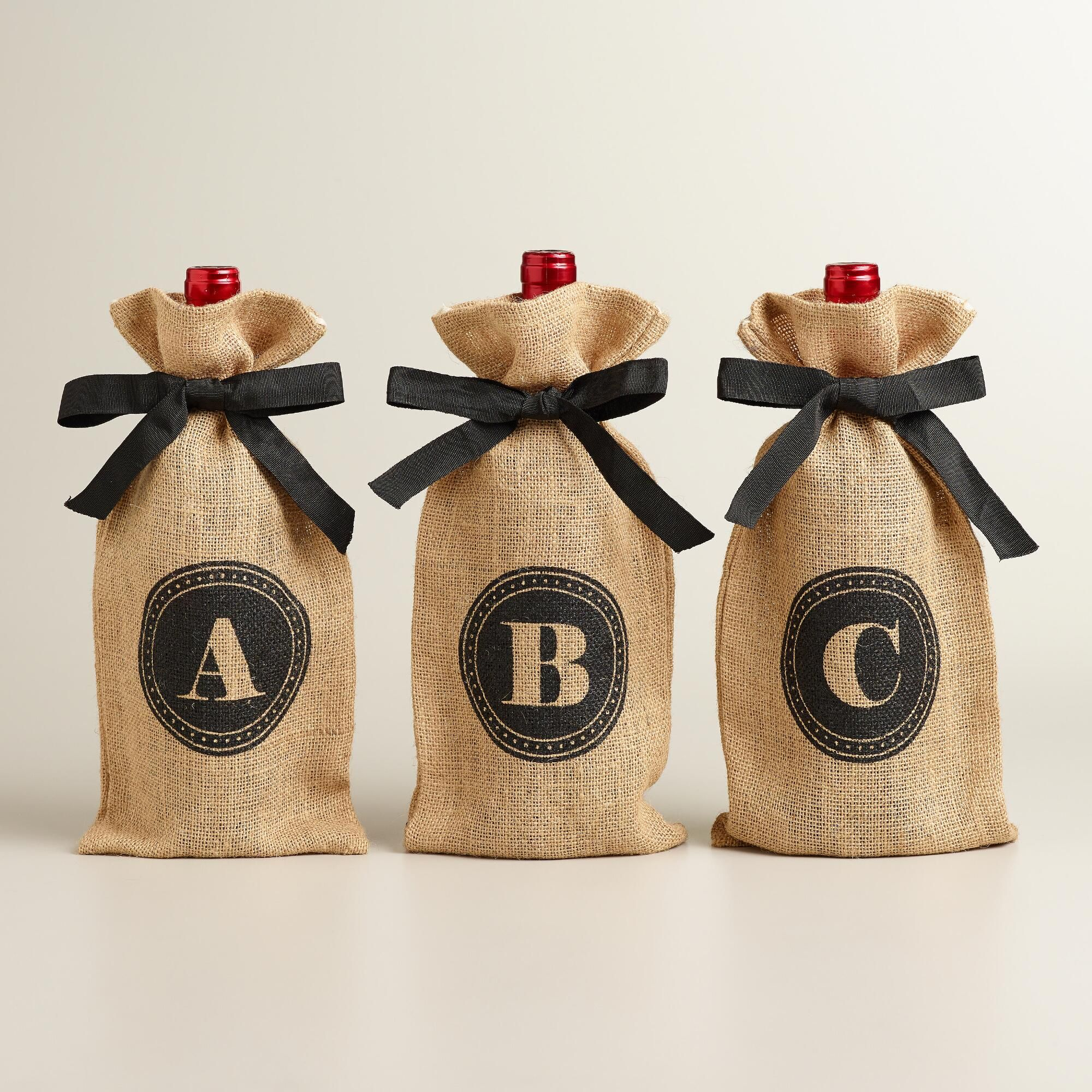 hemp bags with LOGO and ribbon | Logo\'s Client Gift Ideas | Pinterest