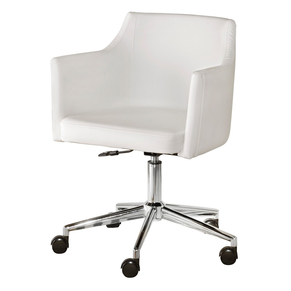 Baraga home office swivel desk chair white signature
