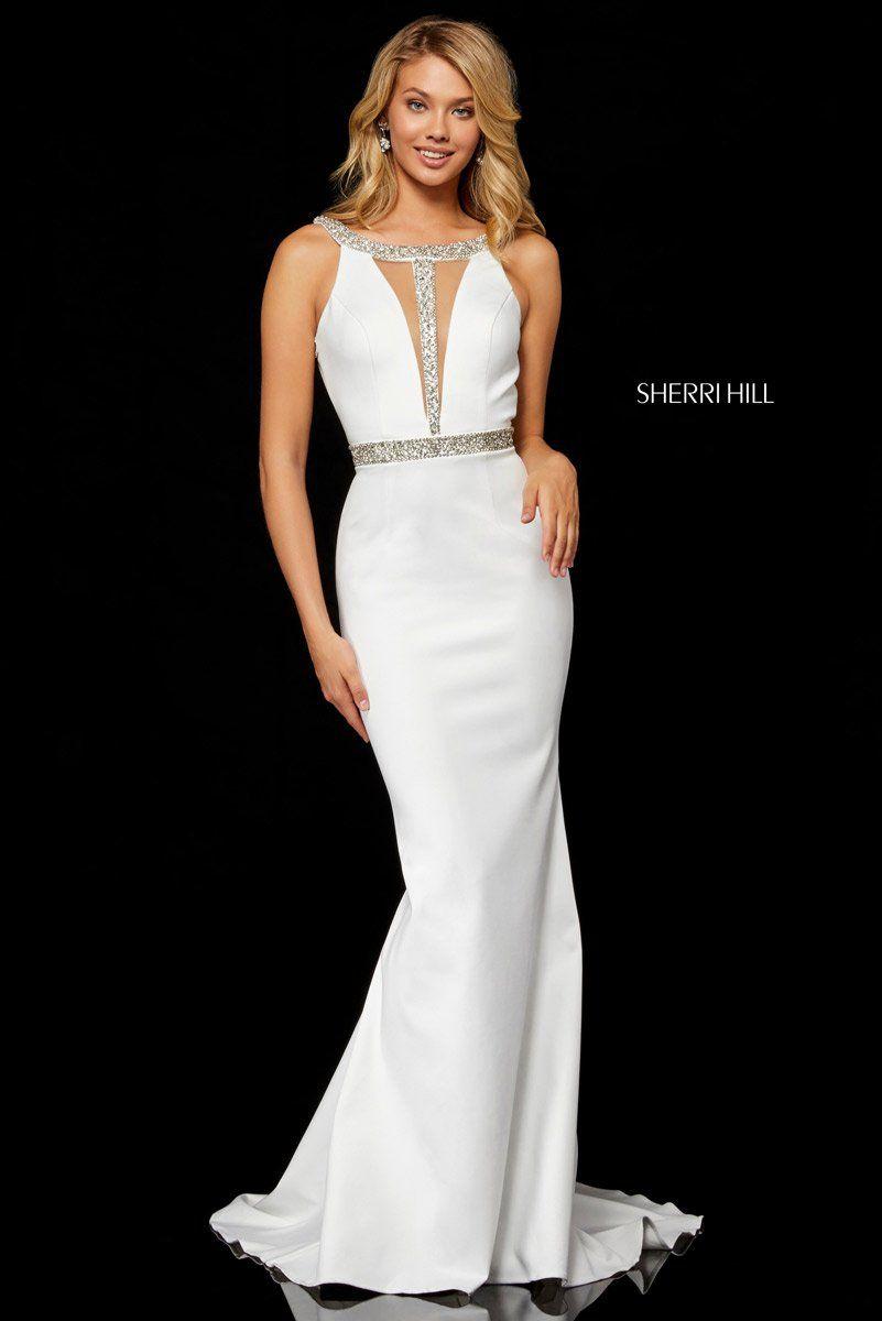 Sherri hill mikado mermaid gown with beading in best