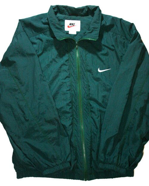 5f05e4391 Vintage 90s Nike Green Windbreaker Jacket Mens Size XL ($36.00) - Svpply