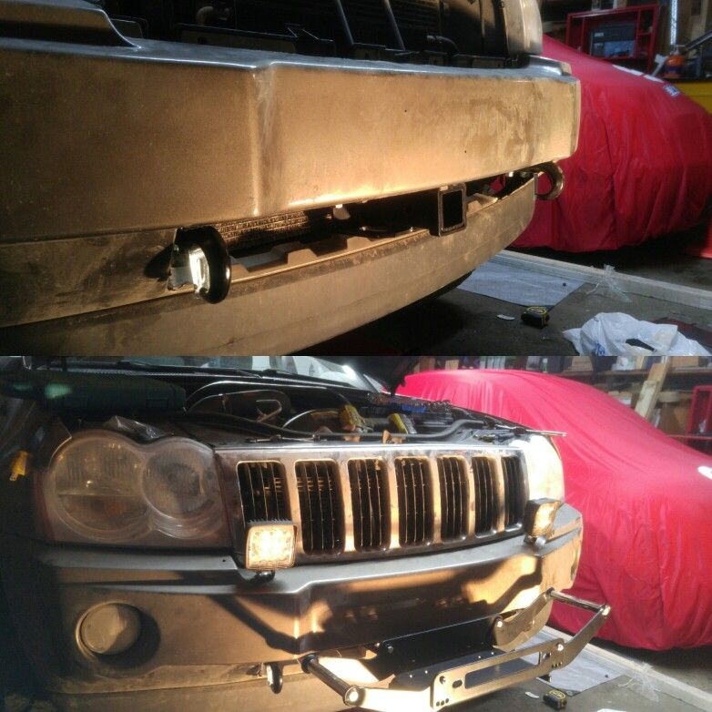 Front Hitch Mount And Tow Hooks Jeep Grand Jeep Grand Cherokee