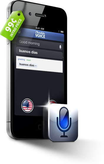 iTranslate for iPhone. Translate. Voice to Voice. Can you