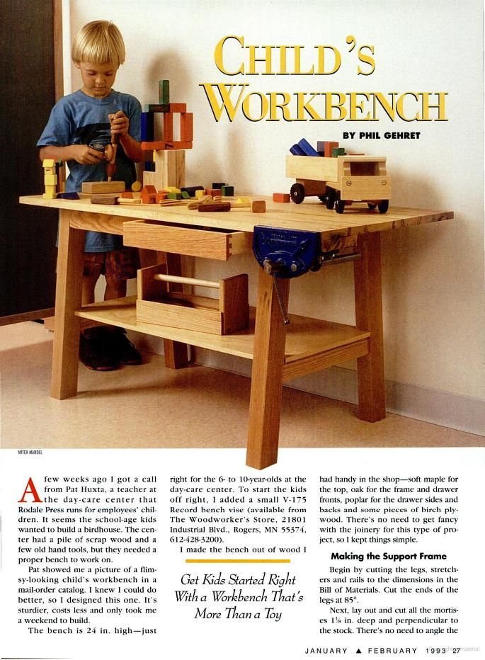 American Woodworker Google Books Child S Workbench Diy Garage
