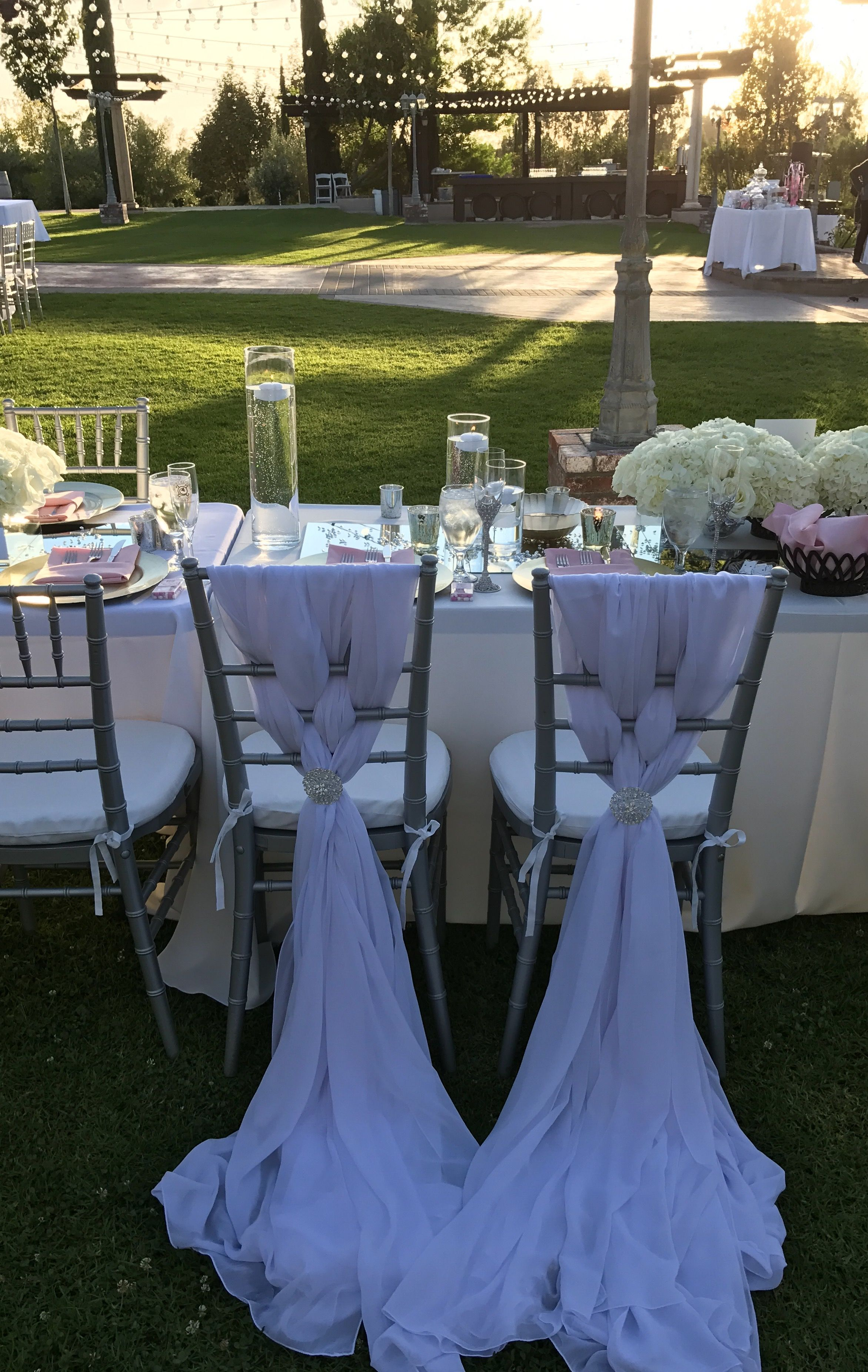 It's a nice day for a white wedding. Temecula Winery.