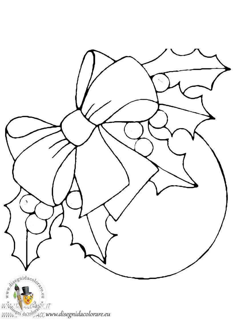 Disegni addobbi natalizi disegni da colorare dei for Disegni di cartoni animati