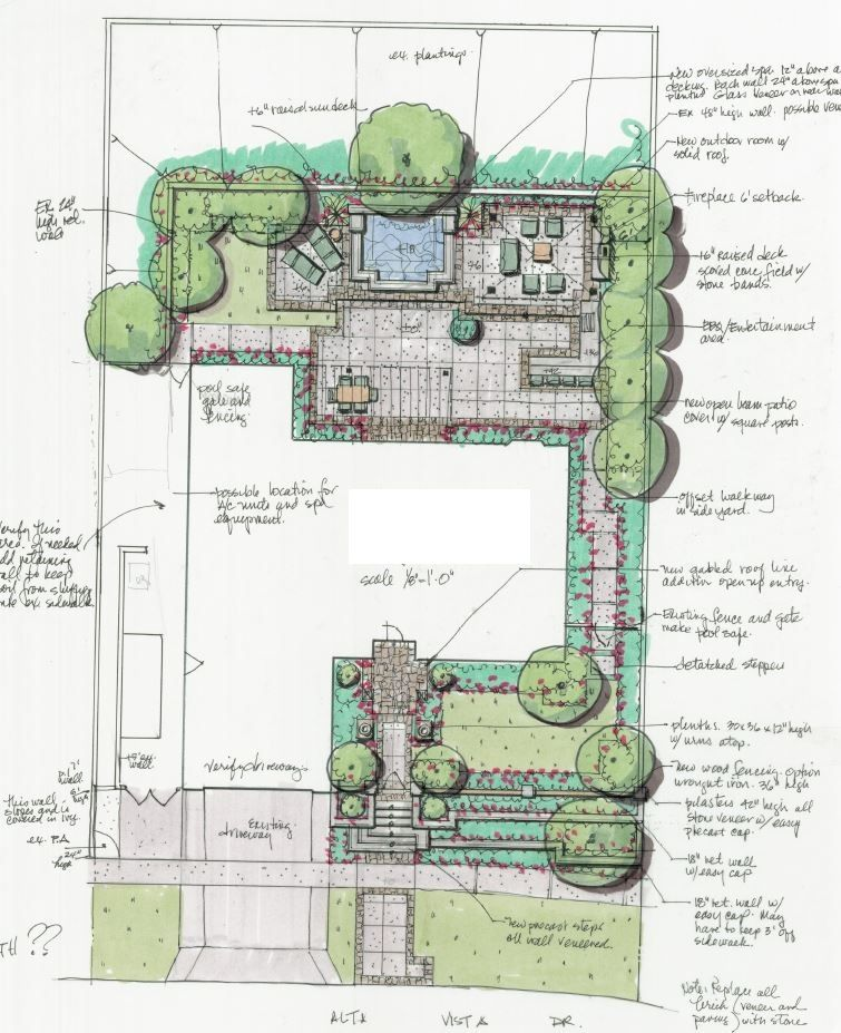 Site Plan Example: Good Example Of Urban Landscape Design To Maximize