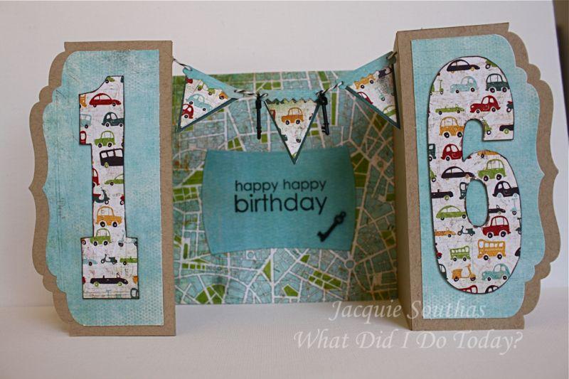 Sweet 16 Birthday Dad Birthday Card Birthday Cards Diy Birthday Cards