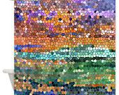 Abstract colorful Shower Curtain - Stained glass mosaic design, art, decor, bath, home, sunset, beautiful,