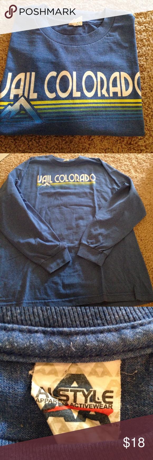 Long sleeve T Vail Colorado long sleeve Tshirt astyle Shirts Tees - Long Sleeve