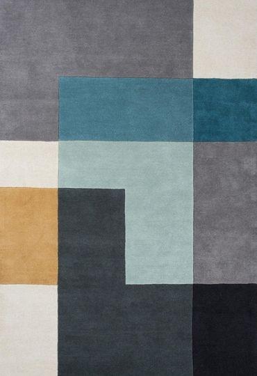 Wovenground Modern Rugs Tetris Rugs Blue Rug Texture Textured Carpet Patterned Carpet