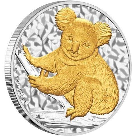 Australian Koala 2009 Gilded Edition 1oz Silver Coin Silver Coins And Silver Bullion 999 Information Bullion Coins Gold Coins Silver Coins