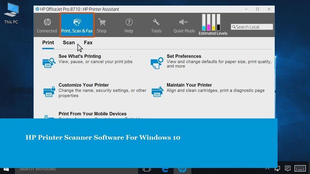 HP Printer Scanner Software For Windows 10 | 123 hp com